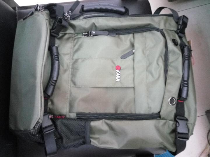 卡卡(KAKA)新款双肩包男旅行背包男士户外运动旅游包大容量防水登山包潮包学生书包电脑包 迷彩加大号 晒单图