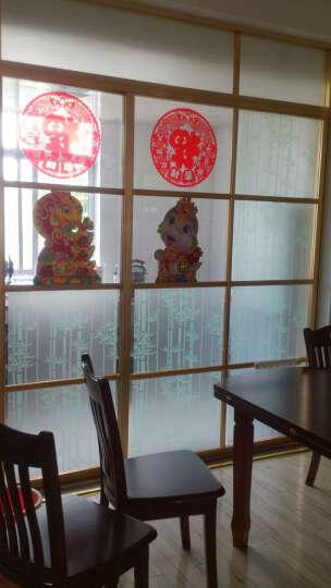 DH加厚贴膜磨砂玻璃纸 窗花 玻璃贴 即时贴 竹子 宽60cm 防水防潮 遮光玻璃贴膜 绿色竹子60cm*3m 晒单图
