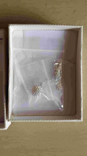 芭丽娜925银耳钉女款 日韩版个性水钻球耳饰学生 银饰品 生日送女友 简约白钻项链 晒单图