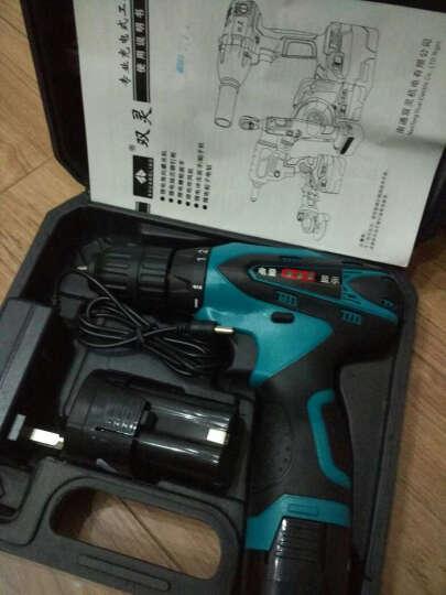双灵充电锂电钻手枪钻12V16.8V电动螺丝刀家用套装双速塑箱 12V双速两电一充塑箱(含配件) 晒单图