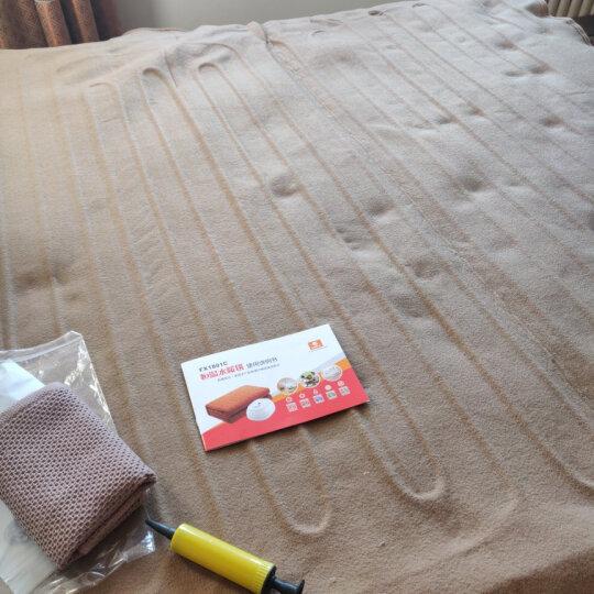 梦里水乡水暖毯双人电热毯单人水循环水暖炕热水循环电褥子单人安全恒温智能水热毯一键调温 智能旋钮金色主机+典雅巧克力色毯多人1820 双人1.5*1.8米 晒单图