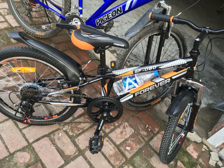 永久20寸山地自行车 铝合金刀圈6速儿童山地自行车 CF080型 黑橙色 20吋 晒单图