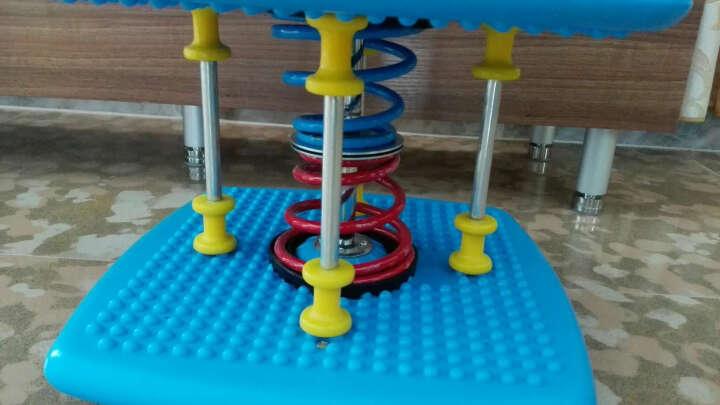 韩版双弹簧减肥塑身扭腰机跳舞机扭腰盘家用运动器材踏步机健身扭扭乐 加强版炫彩蓝扭腰机 晒单图