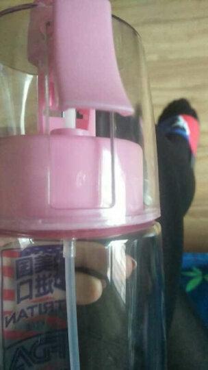 物生物喷雾水杯便携带盖塑料杯创意学生运动水壶太空杯子随手杯580ml 蓝色 晒单图