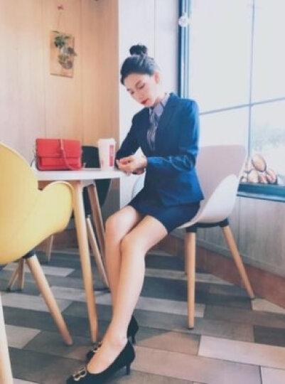 【月销上千】特洛曼职业装女装套装春秋夏正装女韩版小西装外套 工装保险销售酒店4S工作服女士西服套装 蓝马甲+8781衬衫+蓝西裤; M 晒单图