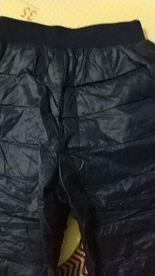 巴布豆童装儿童羽绒裤男女童冬装2018冬装宝宝白鸭绒裤子外穿 藏青 130 晒单图