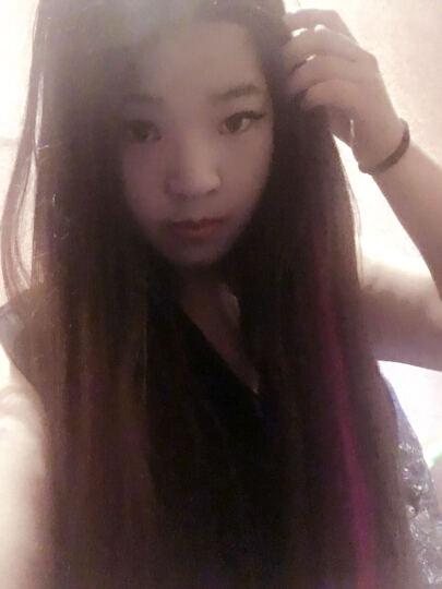 彩色假发片女长发挑染渐变隐形无痕自然一片式直发接发条束补发片 单夹-西柚粉13 晒单图