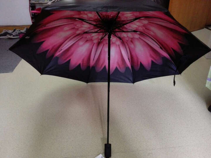 外滩故事晴雨伞 太阳伞防紫外线 防晒遮阳伞女士黑胶小黑伞 栀子花白 晒单图