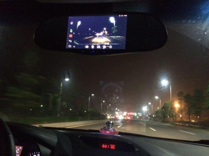 航睿云镜智能后视镜汽车声控GPS导航仪高清1080P行车记录仪实时路况在线升级多功能一体机 军绿色 晒单图