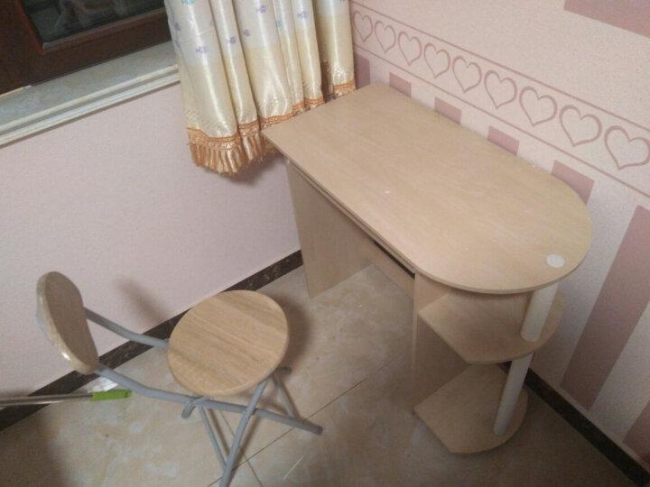 慧乐家 椅凳 京东配送金属靠背折叠椅子 木质办公椅 户外便携凳(2个装)3D木纹色 22193 晒单图