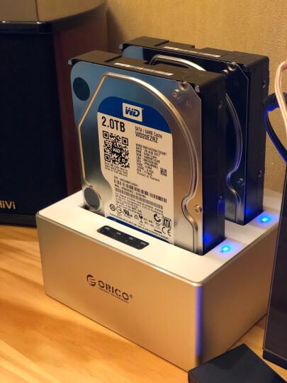 奥睿科(ORICO)USB3.0移动硬盘盒2.5/3.5英寸通用脱机拷贝机硬盘底座 SATA3.0 双盘位6828US3-C 晒单图