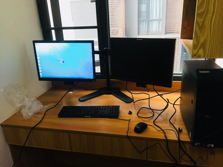 【二手8成新】联想电脑台式机 m730系列 一代i3 i5 i7 娱乐/家用/二手电脑办公主机 联想17寸方屏新款液晶显示器 晒单图