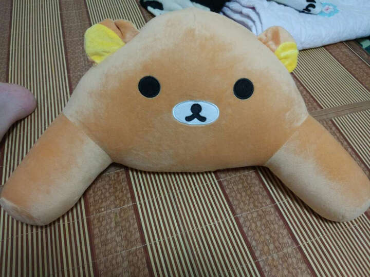 哈哈龙(hahalong) 哈哈龙 卡通熊猫U型颈枕腰枕沙发靠枕 靠垫 抱枕办公室腰靠 粉兔 U枕头加腰靠 晒单图