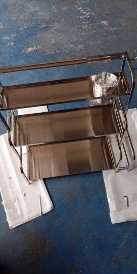 四季沐歌(MICOE) 厨房置物架收纳架调料架刀架厨房用品筷子筒 三层50长不带砧板架 晒单图