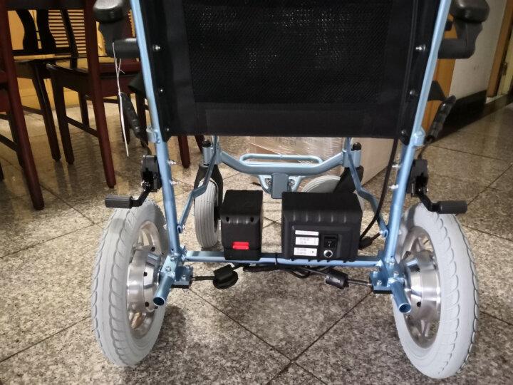 互邦轮椅 电动轮椅 老年人车仅14公斤锂电池铝合金轻便携可折叠代步车 HBLD3-C双控 电池可拆 晒单图