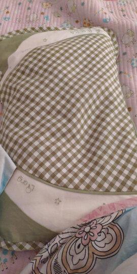 良良(liangliang) 婴儿枕头定型枕防偏头新生儿水洗透气儿童枕0-1-3-5岁用品幼儿礼盒 加长盒装  绿咖 晒单图