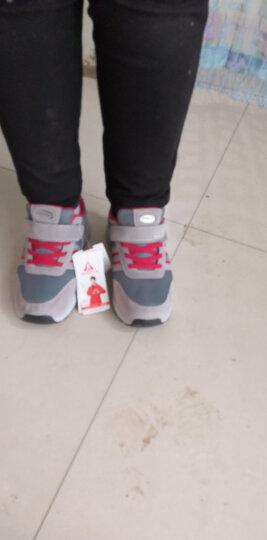 足力健女休闲鞋老人安全鞋秋季软底中老年妈妈鞋 雅致红(女款) 37 晒单图