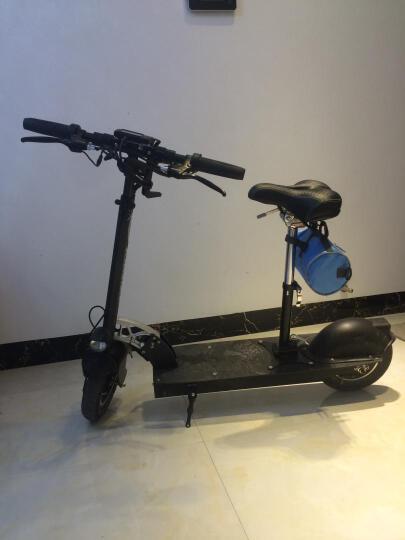 鑫剑 电动滑板车成人 两轮 代步车 平衡车 折叠车带坐C型 升级版蓝色 22ah加送座位70km左右 晒单图
