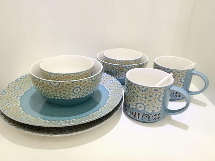 瓷彩美(CECEME)马卡龙彩色陶瓷汤匙 个性搅拌勺咖啡汤勺创意陶瓷勺子调羹 浅蓝色-咖啡勺13CM 晒单图