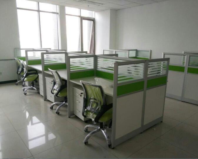 旺辉伟业 北京办公家具办公桌椅组合员工工位现代简约职员桌4人位屏风隔断组合卡座电脑桌可定制 工字型2人位+柜 晒单图
