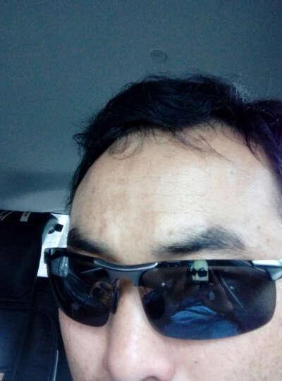 谷戈(GOGER)太阳镜男款偏光墨镜铝镁司机 夜视眼镜开车专用防强光灯驾驶钓鱼 黑框 晒单图