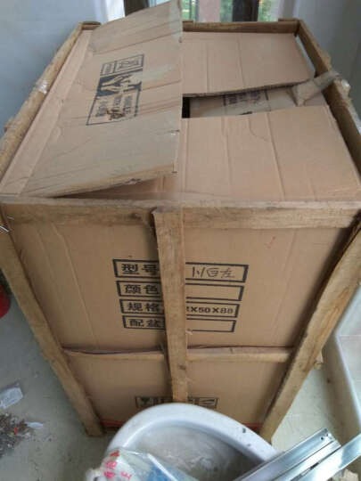 万湖(WANHU) 万湖 不锈钢阳台滚筒洗衣机柜 带搓衣板浴室柜组合 1.0米-白色-右盆 晒单图