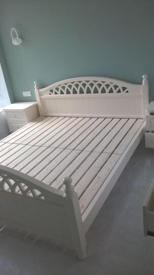 【包安装】卡神 实木床  韩式床田园床单人双人床 公主床欧式 床+一对床头柜 1.5mX2m 晒单图