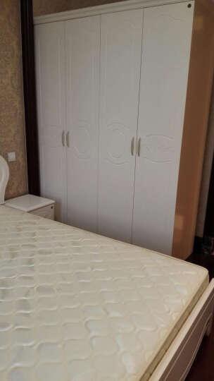 全友(QUANU) 全友家居 韩式田园床卧室家具套装组合床垫套装双人床公主床120606 1.8m双人床+床头柜*2+床垫+四门衣柜 晒单图