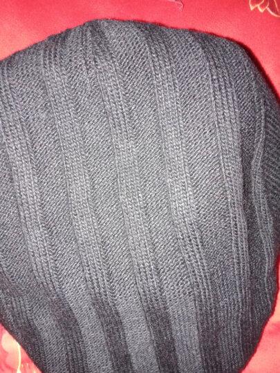 帽子男冬天韩版时尚针织鸭舌帽秋冬贝雷帽画家前进帽 黑色58CM 晒单图