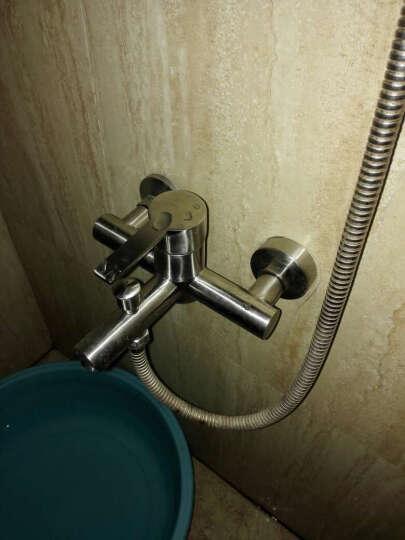 雅图诗 浴缸花洒龙头 不锈钢淋浴套装三联混水阀冷热 Y302单龙头 晒单图