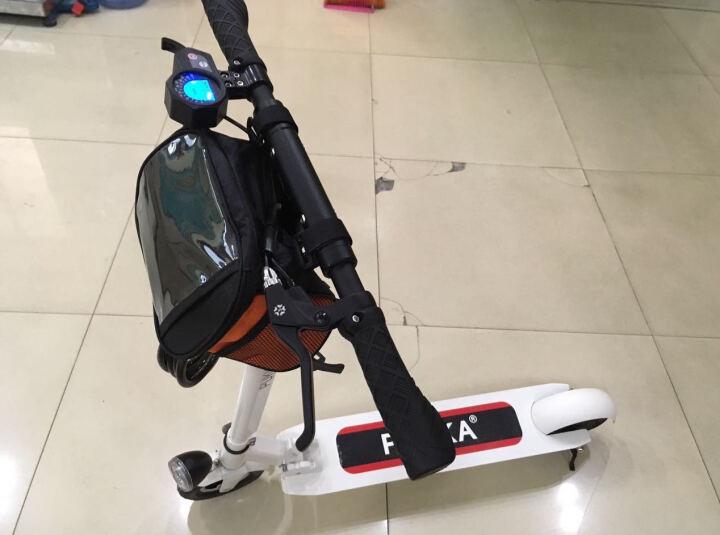PUKKA锂电池滑板车代驾自行车便携折叠电动滑板车代步车迷你电瓶车 精灵黑 50公里续航  送座椅 晒单图