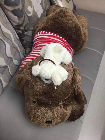 玛格丽特 超大号毛绒玩具公仔 趴趴狗抱枕 生日礼物送女生 黑白条纹 85厘米 晒单图