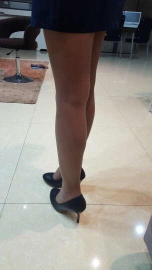 帛屐新款高跟鞋细跟尖头浅口单鞋女春季单根工作职场女鞋 紫颜色 36 晒单图