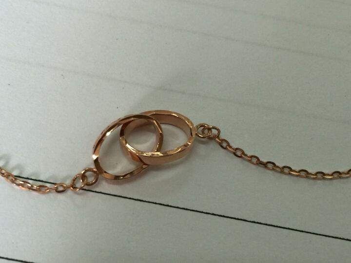 周大福 环环相依 18K金项链/吊坠 E111457 40cm 1860元 晒单图