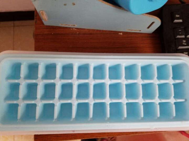 克来比 自制带盖冰块盒 3件套 制冰盒模型 33格 家用做冰格冰箱冻冰块模具 KLB1132 蓝色 晒单图