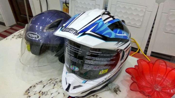 SOL越野盔跑盔SS-1多功能摩托车头盔 极限黑银 M 晒单图