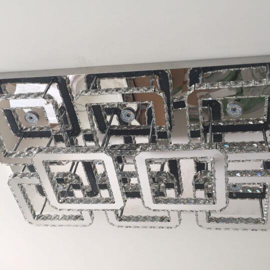 精豪 LED水晶灯客厅长方形灯大气卧室灯餐厅灯具灯饰 印象系列 6+2头双层100*65CM无极调光调色+遥控 透明水晶 晒单图