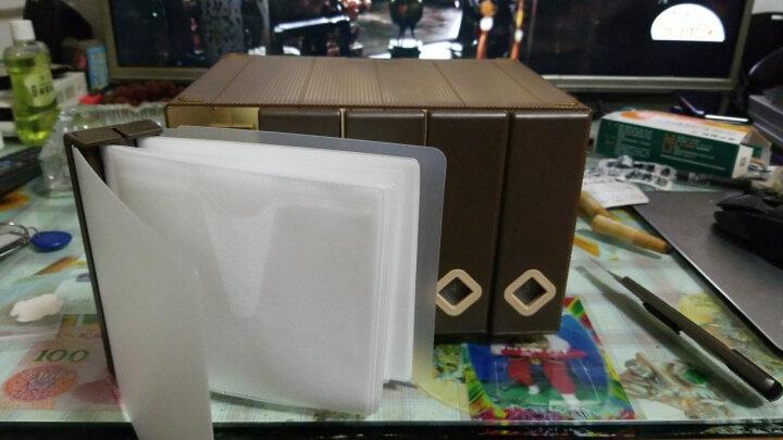 创意120片光盘包宝宝CD收纳盒专辑光碟收纳盒音乐游戏cd整理盒 咖啡色 晒单图