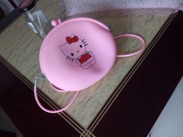 卡通可爱单肩斜挎包沙滩果冻零钱包女士手机包儿童包包 粉色HELLO KITTY 晒单图