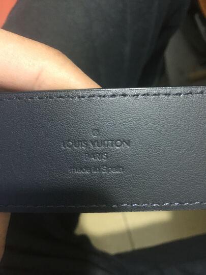 路易威登LV男士皮带腰带双面经典棋盘格银色扣牛皮革M0087T 110码,全长125厘米 晒单图