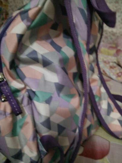 MOMOgirl可爱韩版休闲迷你便携双肩包大容量旅行包帆布包M5304 水粉绿甜甜圈 晒单图