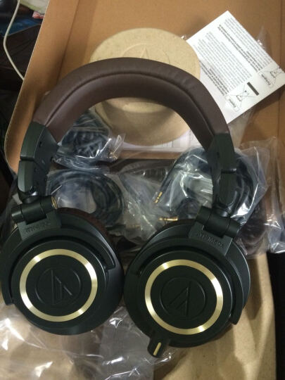 铁三角(Audio-technica)ATH-M50X DG 专业监听头戴式耳机 墨绿色限量版 导师级监听 晒单图