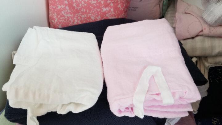 全棉时代 婴儿衣服 短款宝宝新生儿纱布衣服 59/44(建议0-3个月) 粉色+白色 2件/盒 晒单图