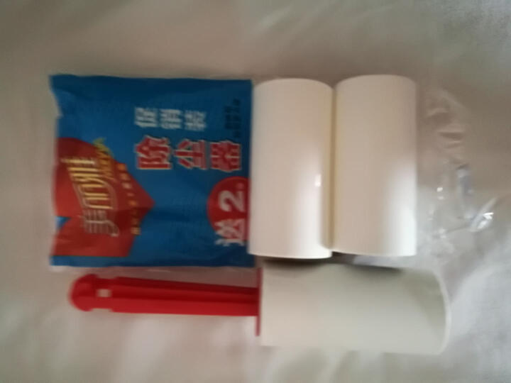 美丽雅 粘毛滚筒除尘器可撕式粘毛器粘毛刷粘尘滚 送粘尘纸2卷 晒单图