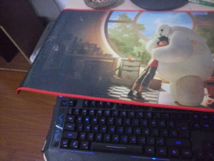 果敢 大号鼠标垫 包边防滑游戏鼠标垫 高灵敏可水洗键盘鼠标垫 创意动漫电脑办公 美队大战钢铁侠800*300mm 晒单图
