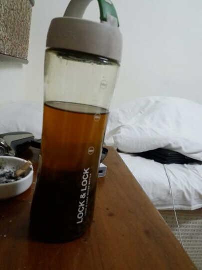乐扣乐扣水杯600ml PC运动茶杯 过滤网茶隔水杯子 HLC802T 绿色 晒单图