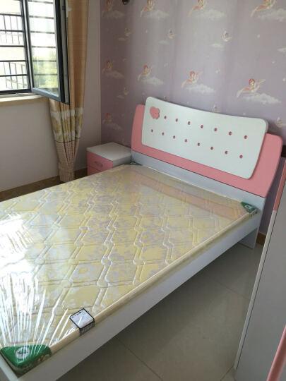 糖果屋 儿童家具5件套装组合 儿童床男孩女孩 1.35米女孩床+三门衣柜+床头柜+书桌+书架 晒单图