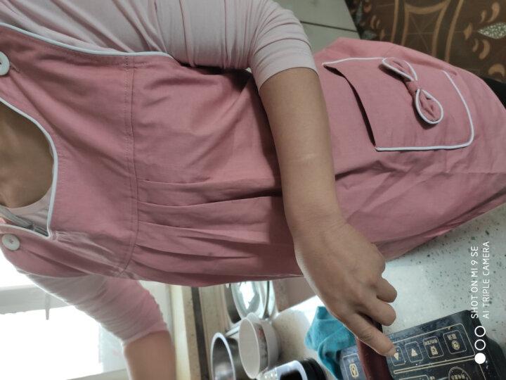 优加孕妇防辐射服孕妇装银纤维防辐射服肚兜吊带电脑防辐射套装 藏青金属马甲 XL 晒单图
