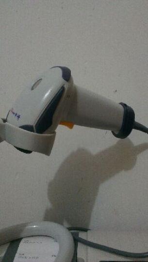 中崎(ZONERICH) ZQ-LS6025超市收银有线扫描枪条形码扫码枪快递专用扫描器 深灰色配支架 PS/2口 晒单图