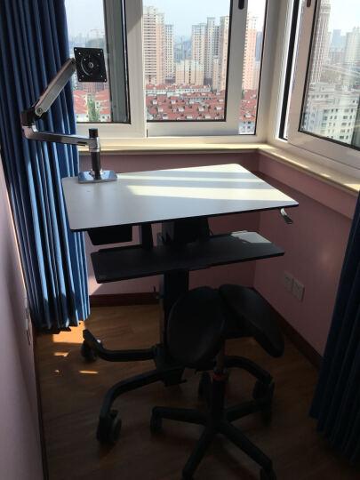 爱格升(ERGOTRON) 坐站交替式 人体工学电脑桌椅套装马鞍椅加移动工作台加显示器 笔记本专用 晒单图
